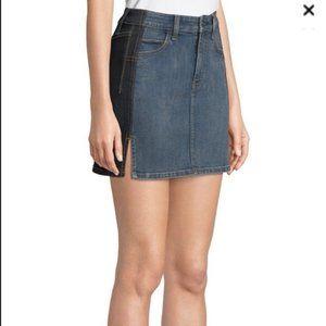 Current Elliott Denim Mini Skirt Two Tone size 25